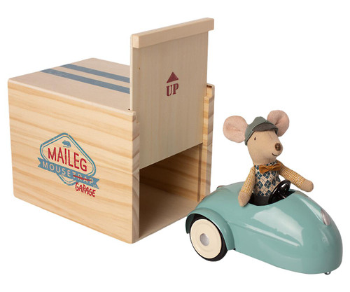 Mouse Car w/Garage - Blue