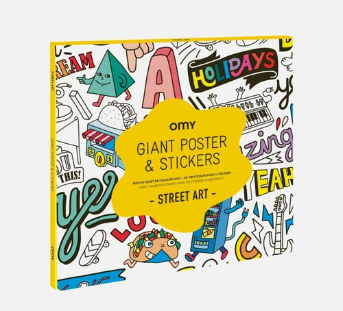 Giant Coloring Poster Folded & Sticker Street Art