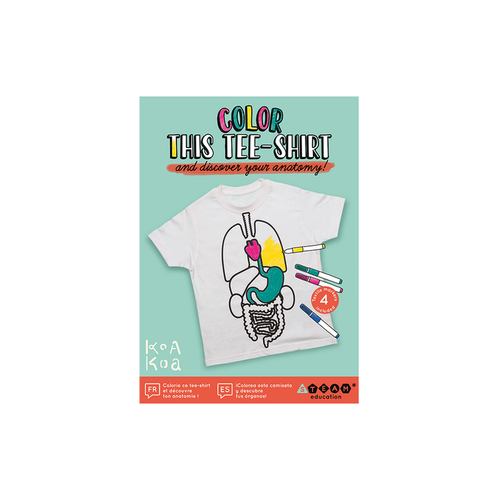 Color This T-Shirt Discover Your Anatomy!