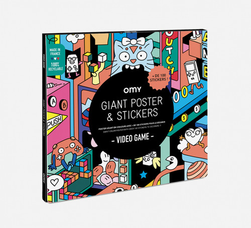 Giant Poster & Stickers Video Game