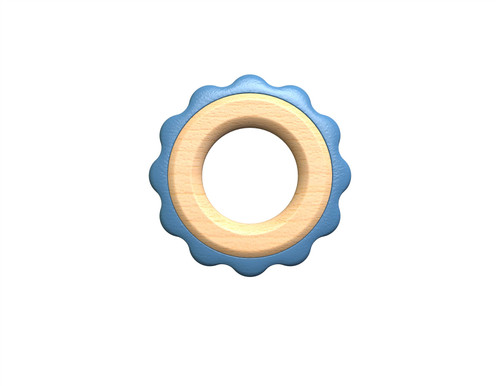 Green Ring Teether - Blue