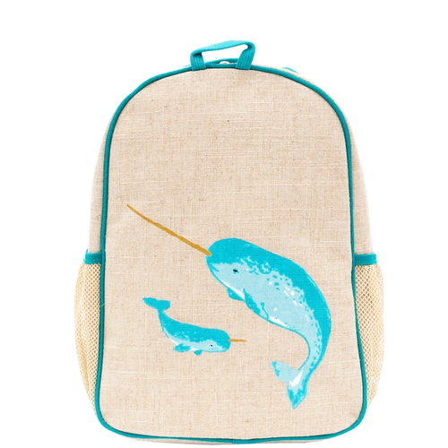 Teal Narwhal Toddler Bacpack