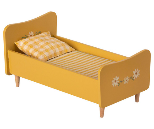 Mini Wooden Bed - Yellow