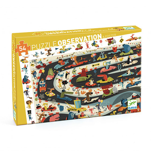Observation Puzzle 54pcs Automobile Rally