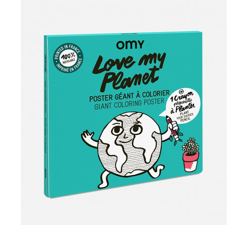 Love My Planet Giant Coloring Poster