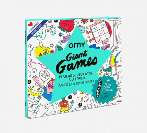 Giant Coloring Poster Folded Games + Crayon