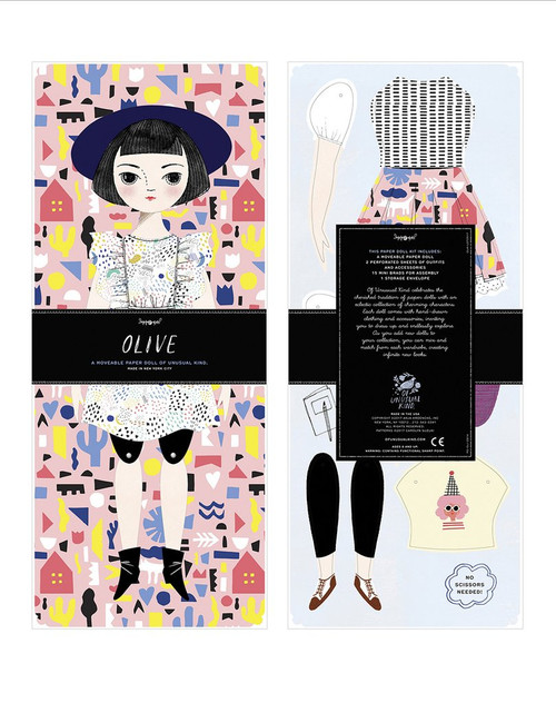 Mailable Paper Doll Kit Olive