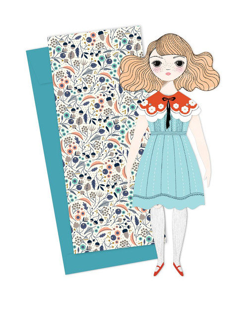Mailable Paper Doll Card Magnolia