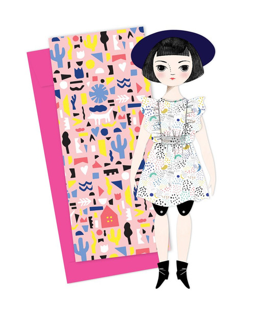 Mailable Paper Doll Card Olive
