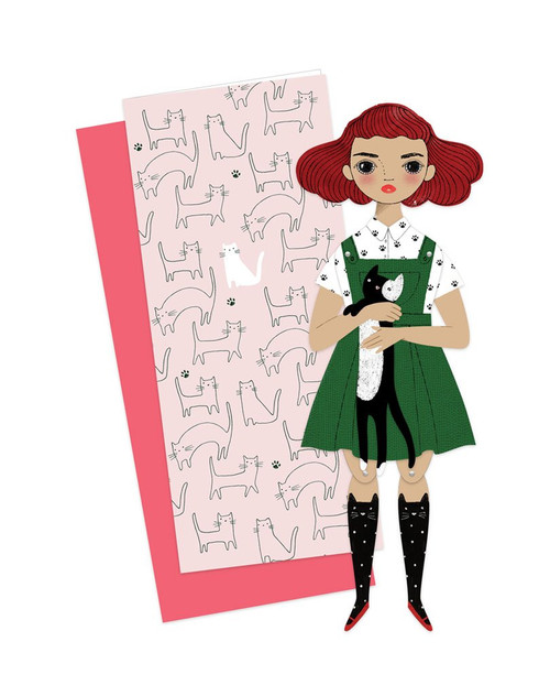 Mailable Paper Doll Card Penelope