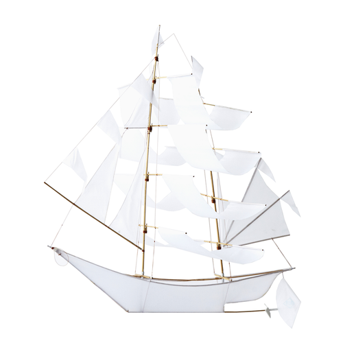 Sailing Ship Kite White - Large