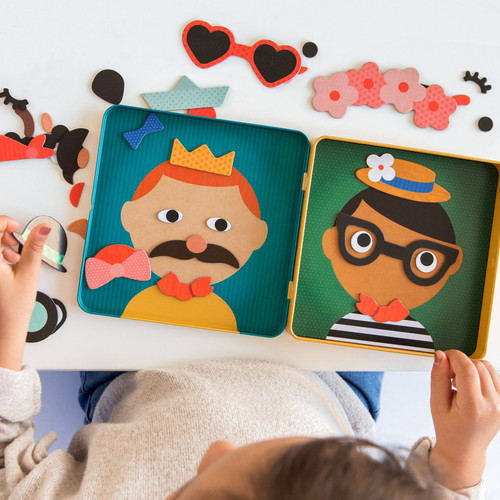 On-The-Go Magnetic Play Set Funny Faces