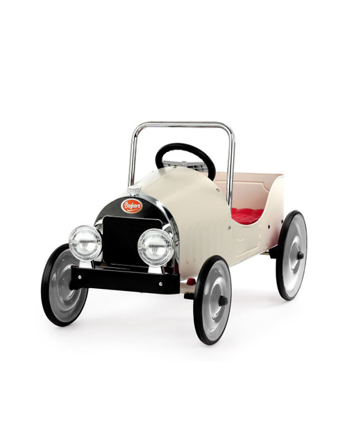 Ride-On Classic Pedal Car White
