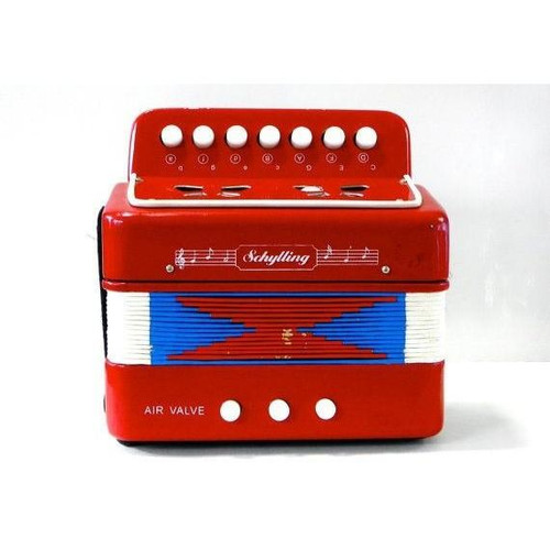 Accordion in Red
