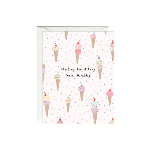 Birthday Card Ice Cream