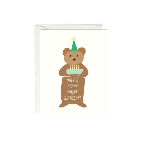Birthday Card  Beary
