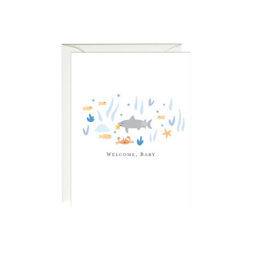 Baby Card  Welcome Shark!