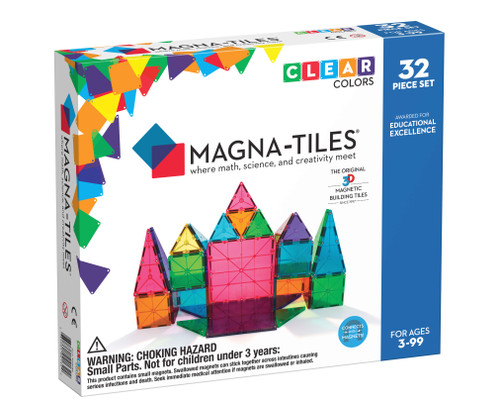 Magna-Tiles® Clear Colors 32pcs