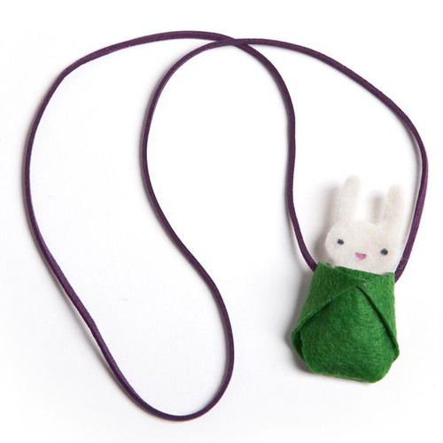 Mini Craft Bunny Necklace