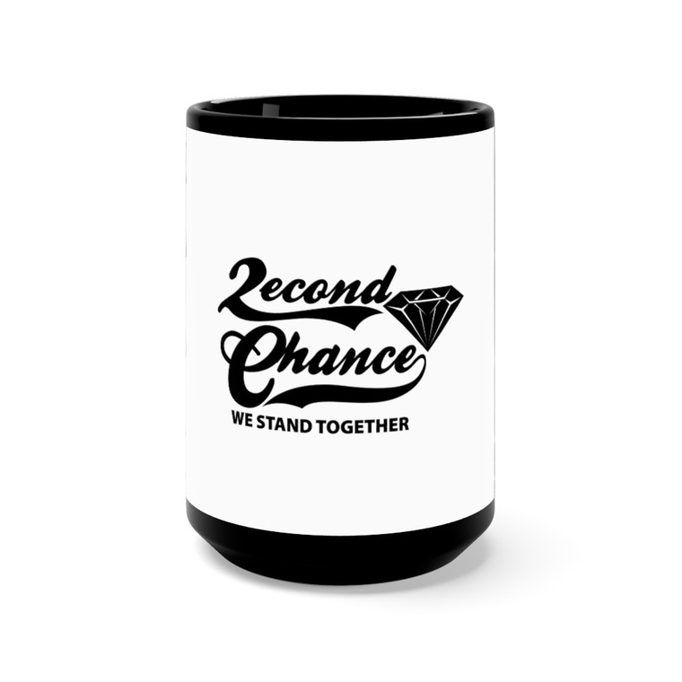 2econd Chance We Stand Black Mug 15oz