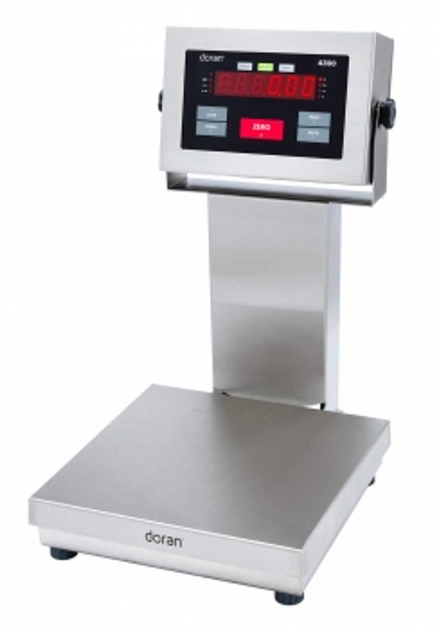 """Doran 4300 Stainless Steel Checkweigh Scale - 14"""" column"""