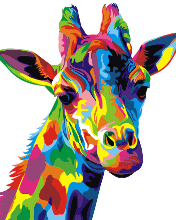 Colourful Giraffe Paint by Numbers Kit