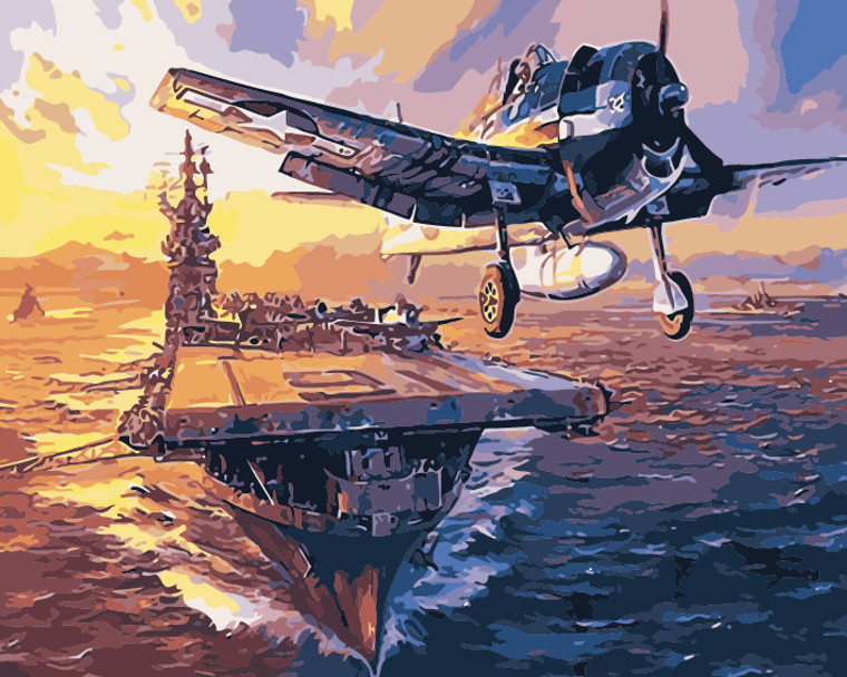 Warship and Planes