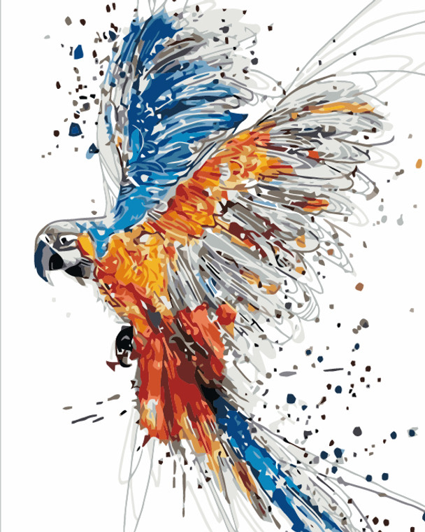 Colourful Flying Parrot