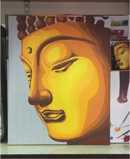 Paint by Numbers Result - Big Golden Buddha by Shelley