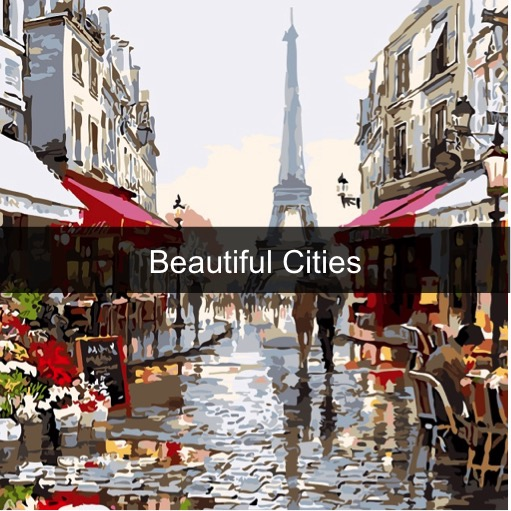 Paint by Numbers Kits - Beautiful Cities