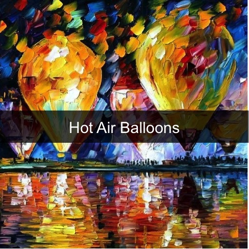 Paint by Numbers - Hot Air Balloons