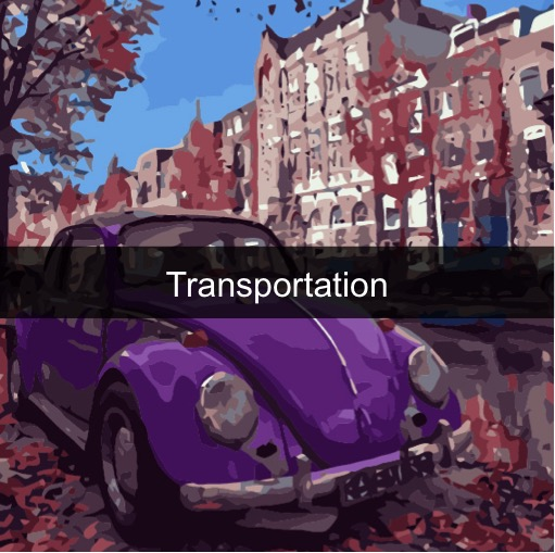 Paint by Numbers - Transportations