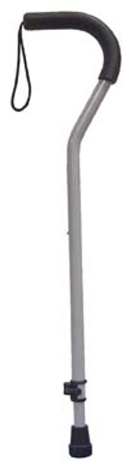 Drive Medical Offset Aluminum Cane with Tab-Loc Silencer