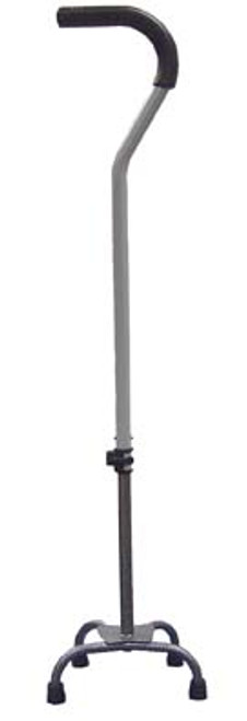 Drive Medical Quad Cane, Small Base with Silver Vein Finish