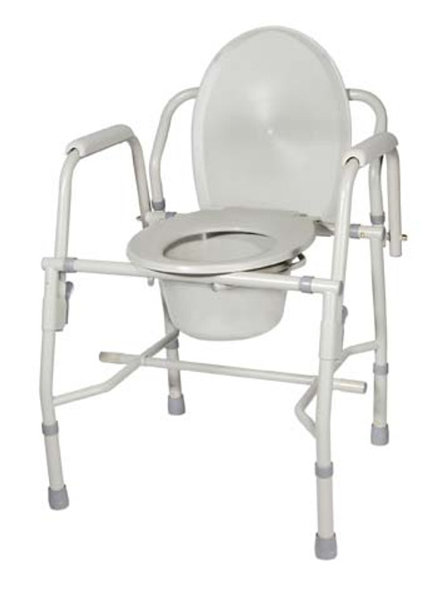 Drive Medical KD Deluxe Steel Drop Arm Commode