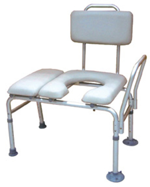 Drive Medical K.D. Combination Padded Transfer Bench/Commode