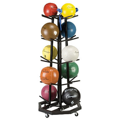Deluxe (Quad) Tier Vertical Medicine Ball Tree