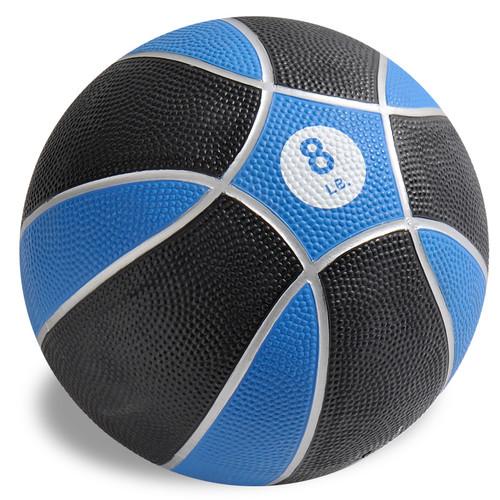 Exertools 8 pound Hard Shell Exball (Medicine Ball)