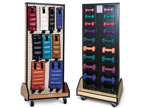 Hausmann Combo Weight/Dumbbell Mobile Rack