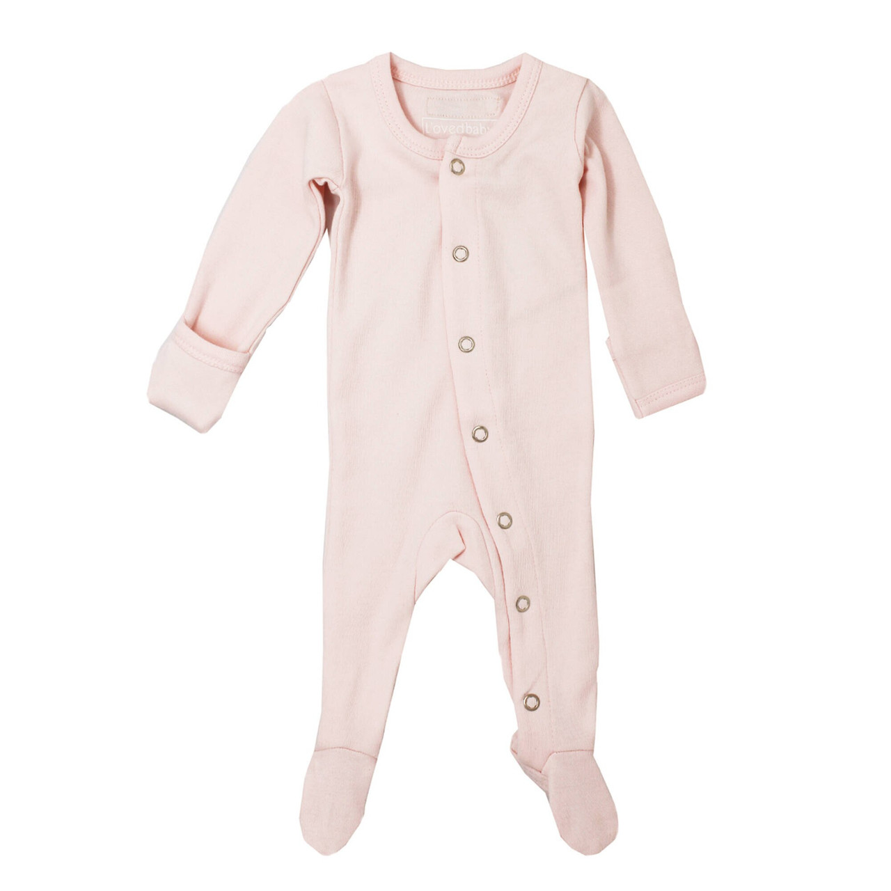 Organic Footed Overall in Blush, Flat