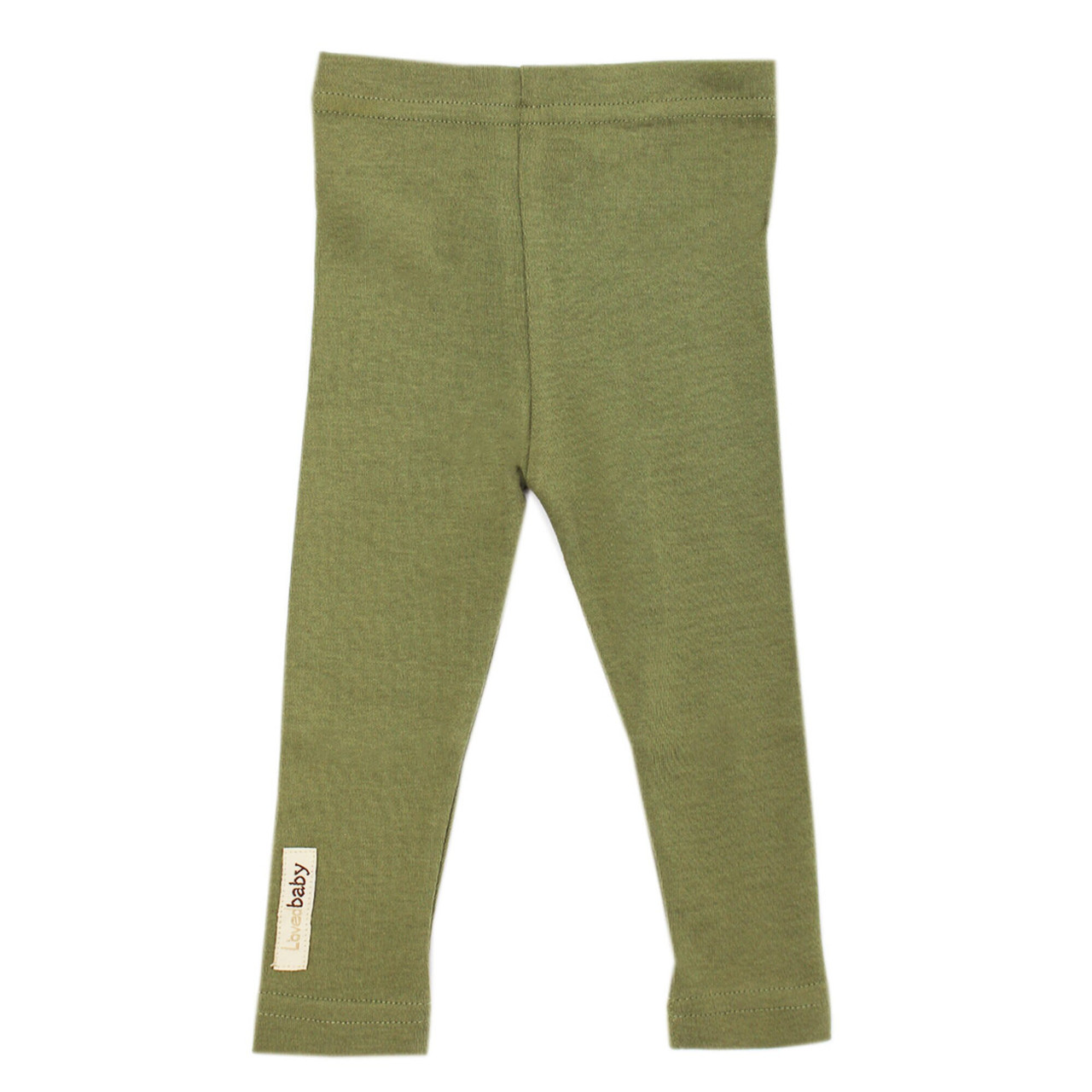 Organic Leggings in Sage, Flat