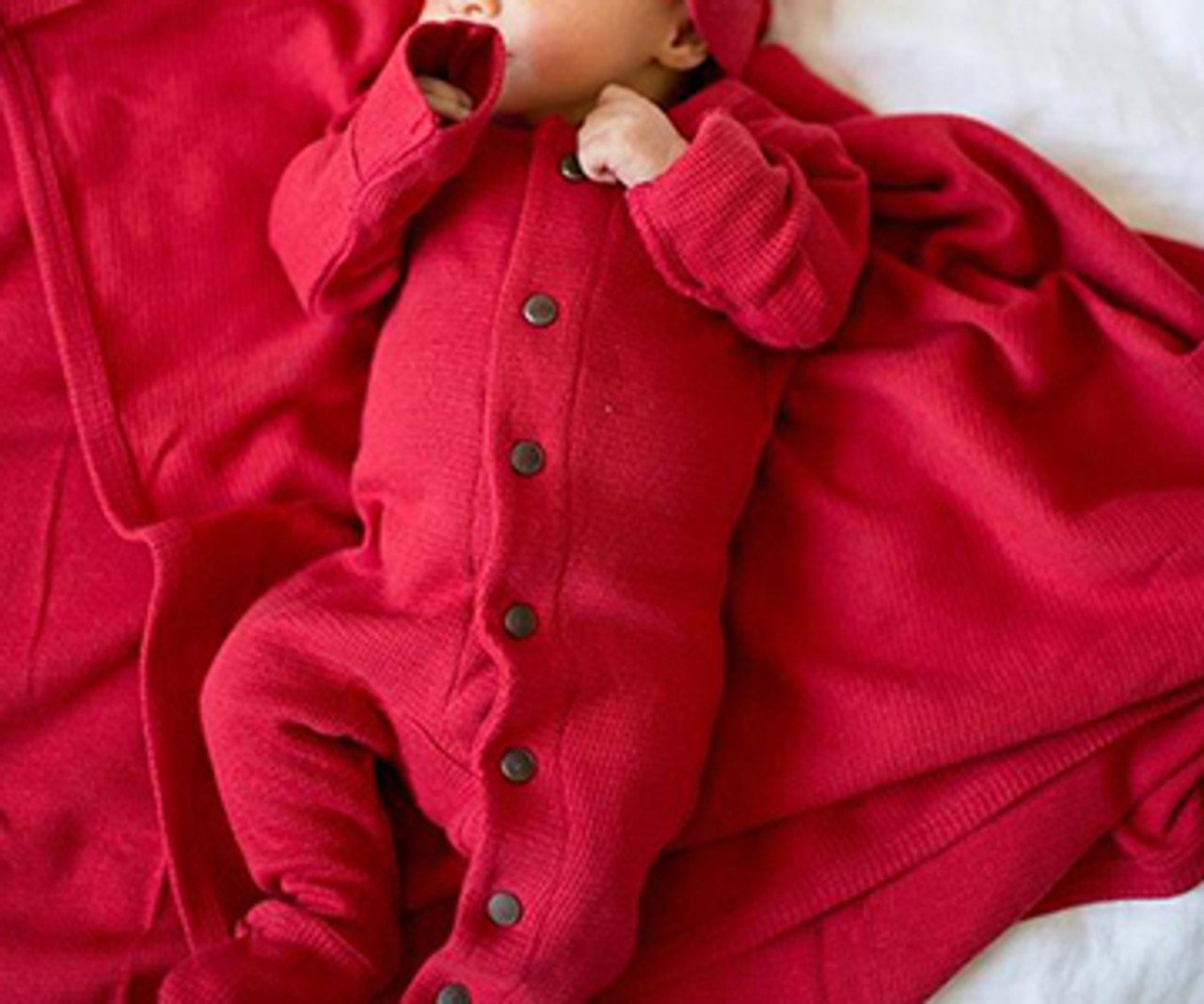 736f37bdc Organic Thermal Jumpsuit in Ruby