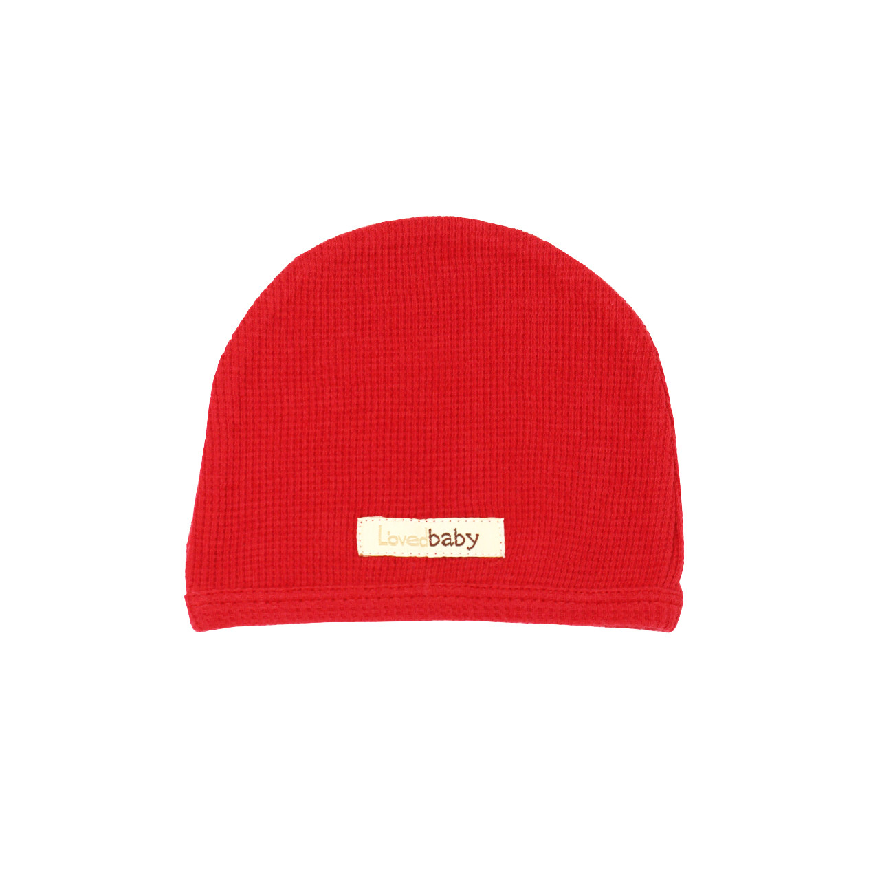 Organic Thermal Cute Cap in Ruby, Flat