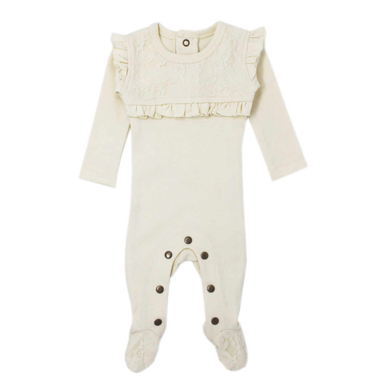 Organic Vintage Overall in Beige, Flat