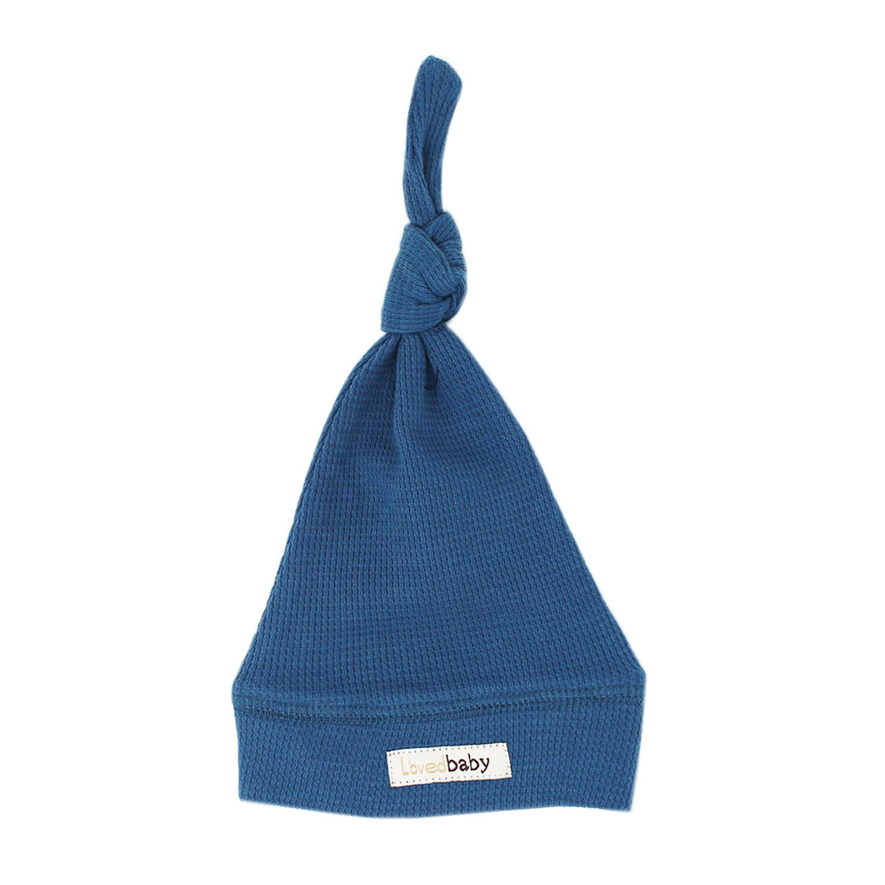 Organic Thermal Knotted Cap in Azure, Flat
