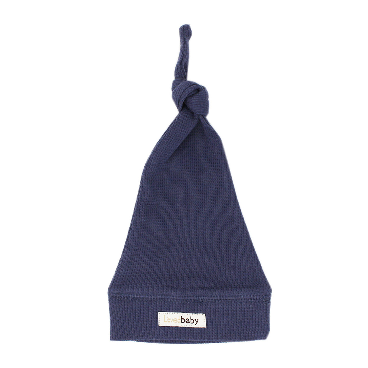 Organic Thermal Knotted Cap in Dusk, Flat