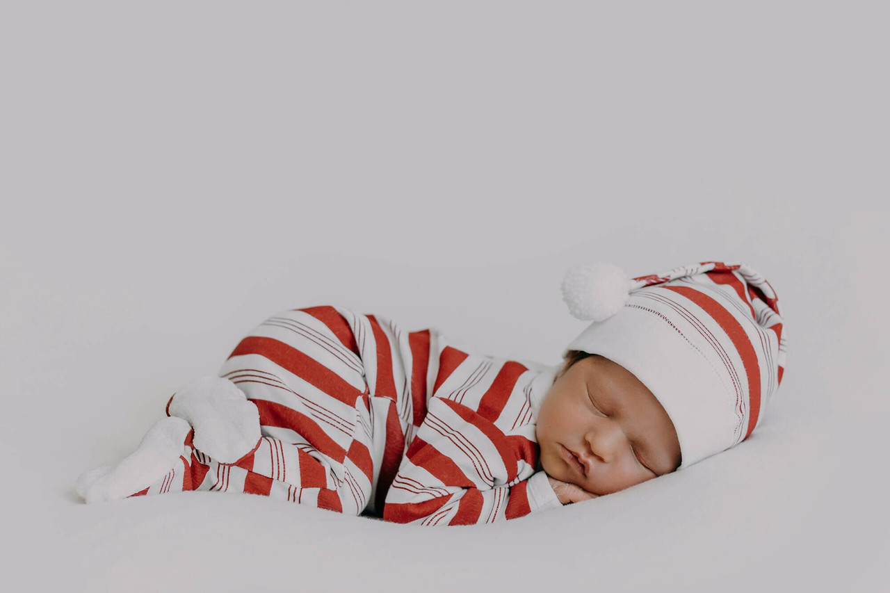 Organic Overall & Cap Set in Peppermint Stripe, Lifestyle