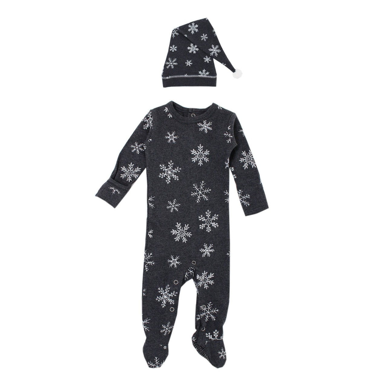 Organic Overall & Cap Set in Frost, Flat