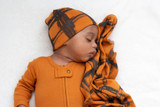 Reversible Beanie in Butternut Plaid, Lifestyle