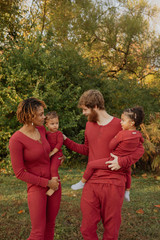 Men's Organic Thermal L/Sleeve Set in Crimson, Lifestyle